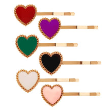Load image into Gallery viewer, Stylish Heart Bobby Pins Metal Hair Pins