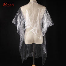 Load image into Gallery viewer, 50pcs Disposable Neck Cape (Transparent)