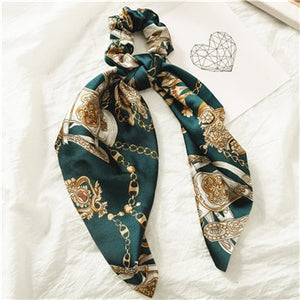Fashion Floral Print Scrunchie