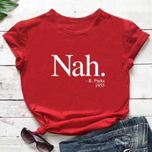 Nah R. Parks 2020 New Arrival Summer 100%Cotton  T Shirt
