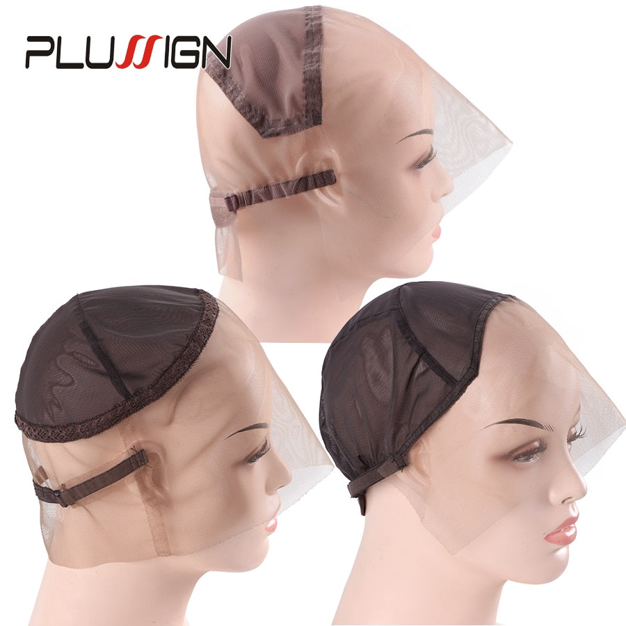 Full Swiss Lace Wig Cap  (Three Styles) Front/ 360/For Making Wigs