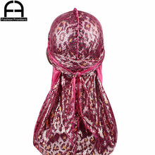 Load image into Gallery viewer, Headwear Unisex Shiny Leopard Silk Durag