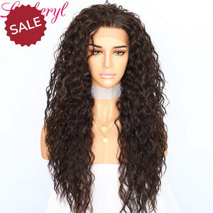 Lvcheryl | Black Highlight Kinky Curly Hair Wig
