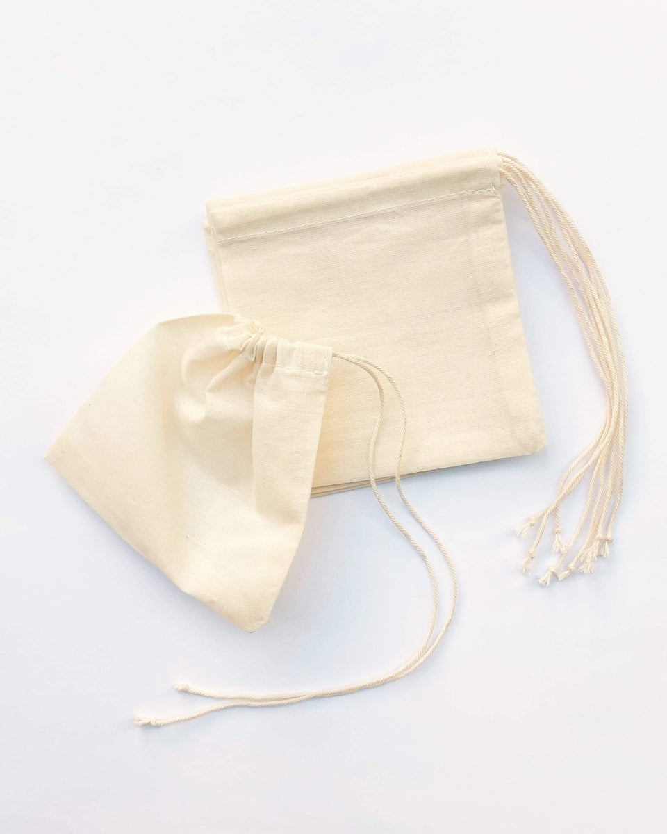 Rewinder Bag Cotton Cloth Tea Bag 7 Pack Eco Zero Waste