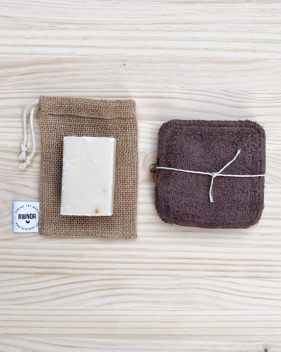 Rewinder Bag Jute soap bag Eco Zero Waste