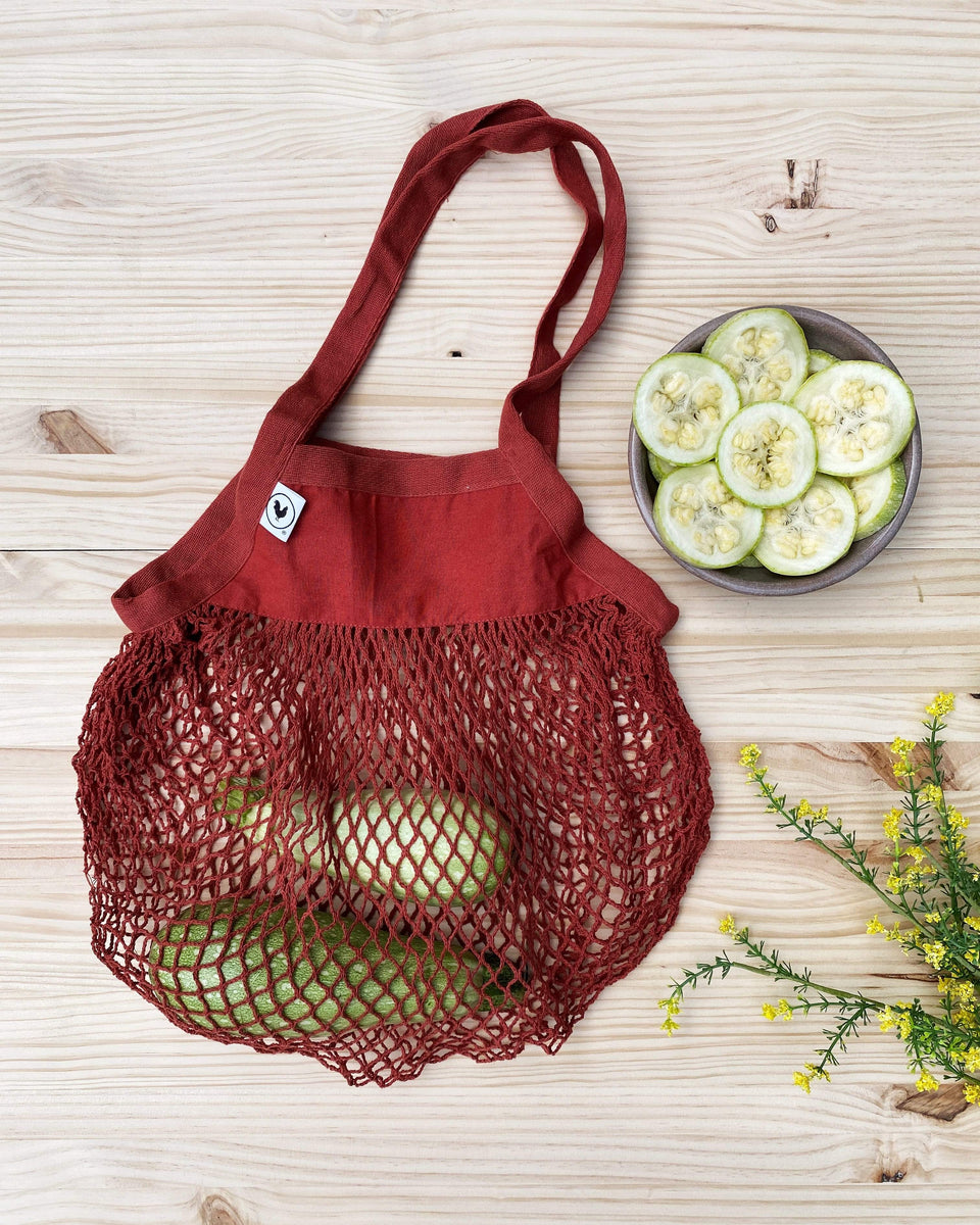 Rewinder Bag Terracotta mesh shopping bag Eco Zero Waste