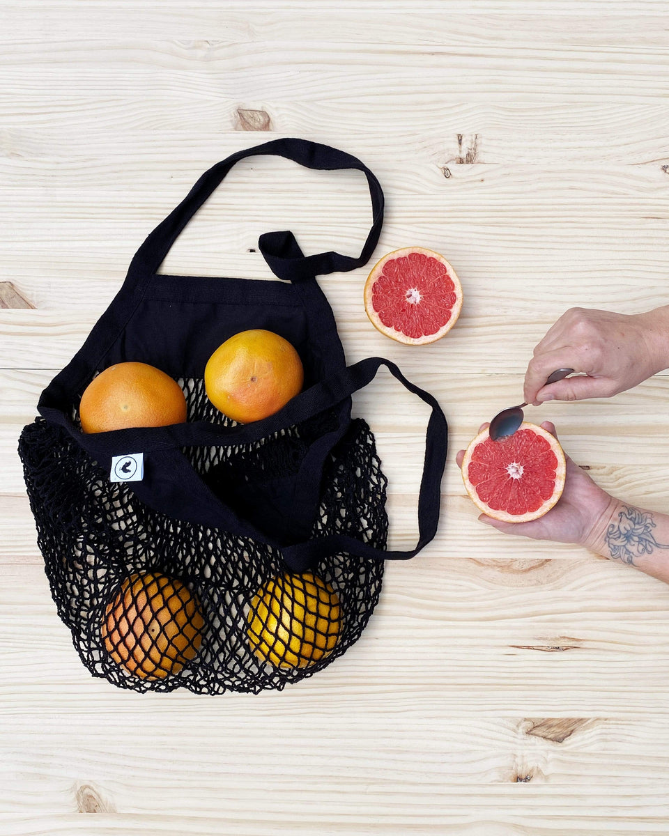 Rewinder Bag Black mesh shopping bag Eco Zero Waste