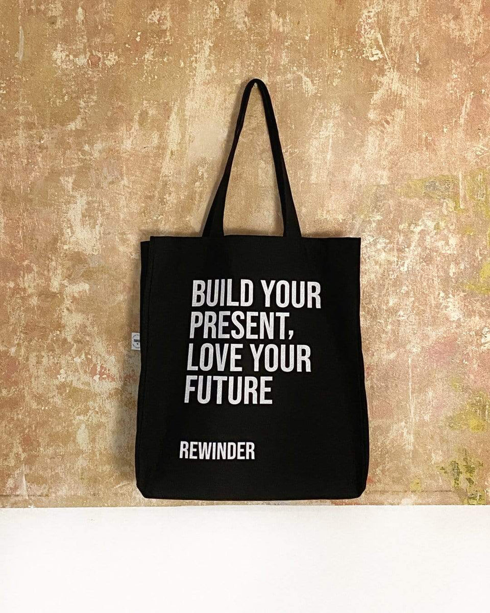 Rewinder Bag Large Black Shopping Bag Rewinder Eco Zero Waste