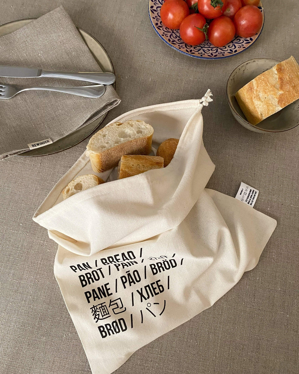 Rewinder Bag Talega Bread Message Bag Eco Zero Waste