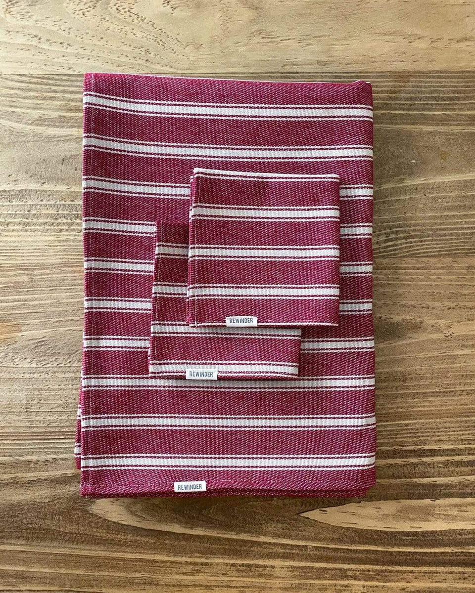 Rewinder Eco Napkins Striped Napkins Eco Zero Waste