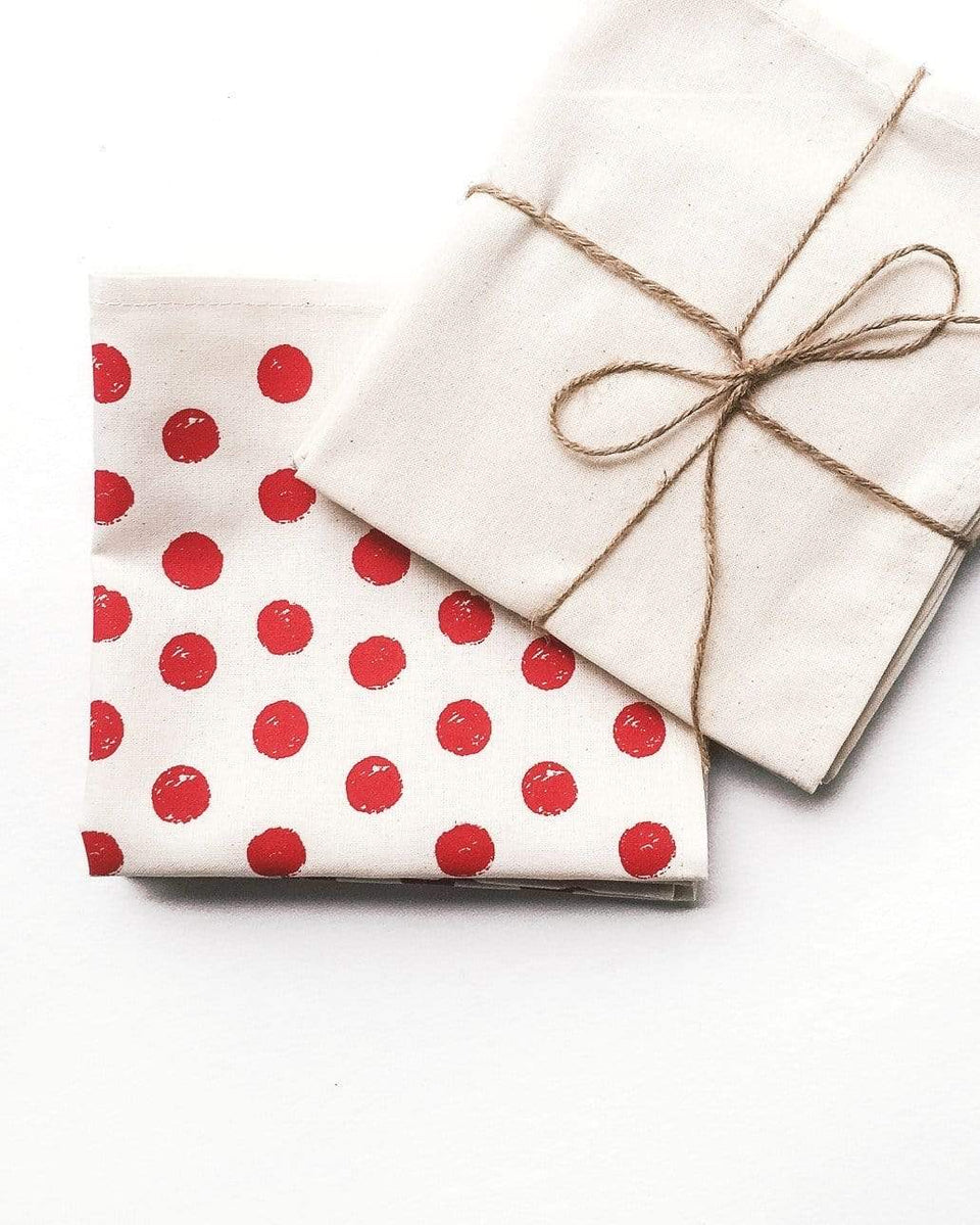 Rewinder Pack Red Polka Dots Napkins Eco Zero Waste