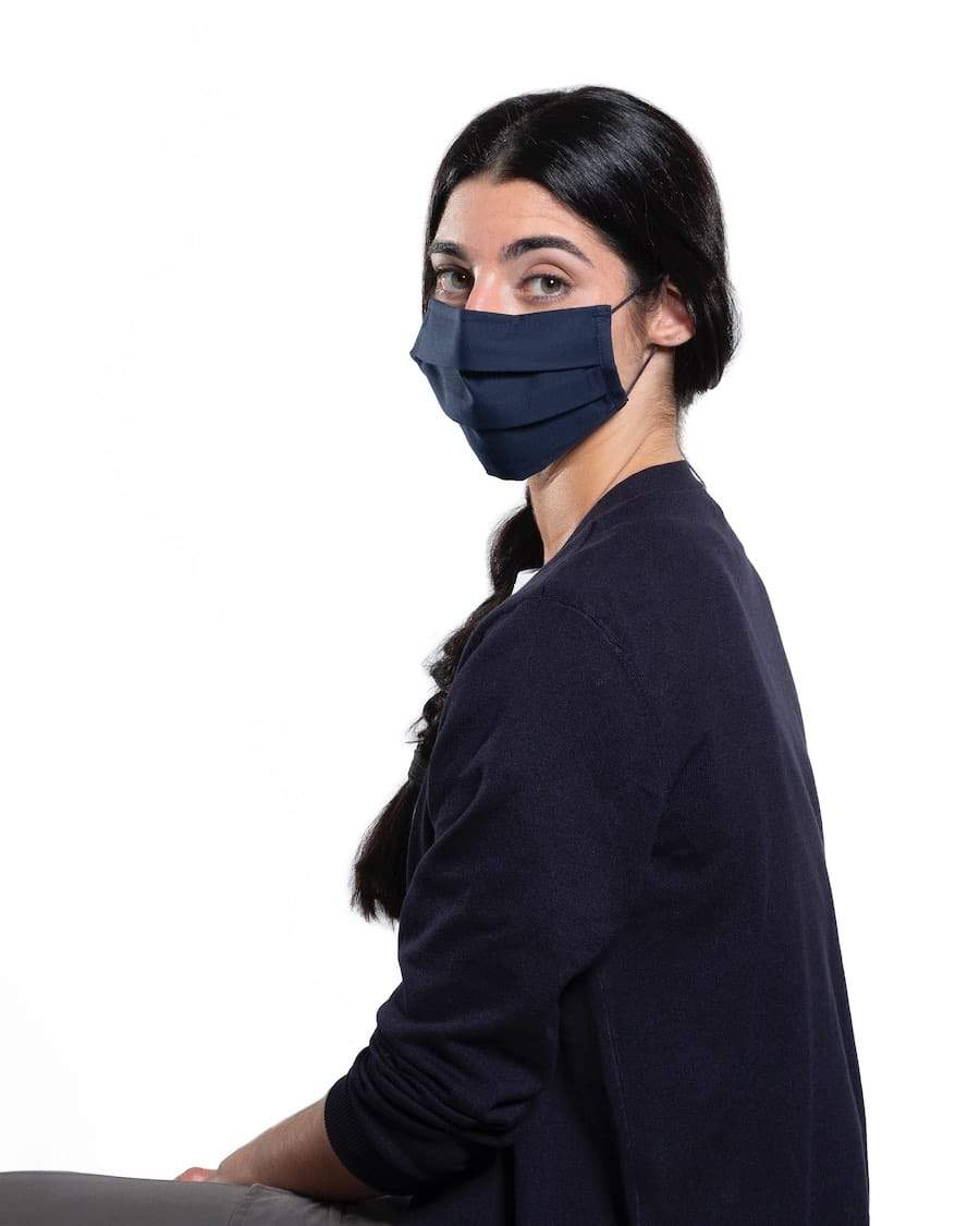 Rewinder Reusable Certified Eco Face Mask Rewinder40 Basic Blue Navy Eco Zero Waste