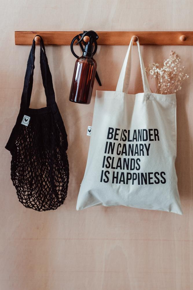Rewinder Totebag Shopping Bag - Be Islander is Happiness Tote Eco Zero Waste