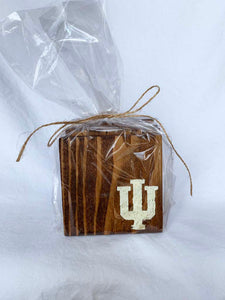 IU Dark Coasters- Set of 4