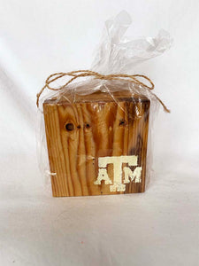 Natural A&M Coasters- Set of 4