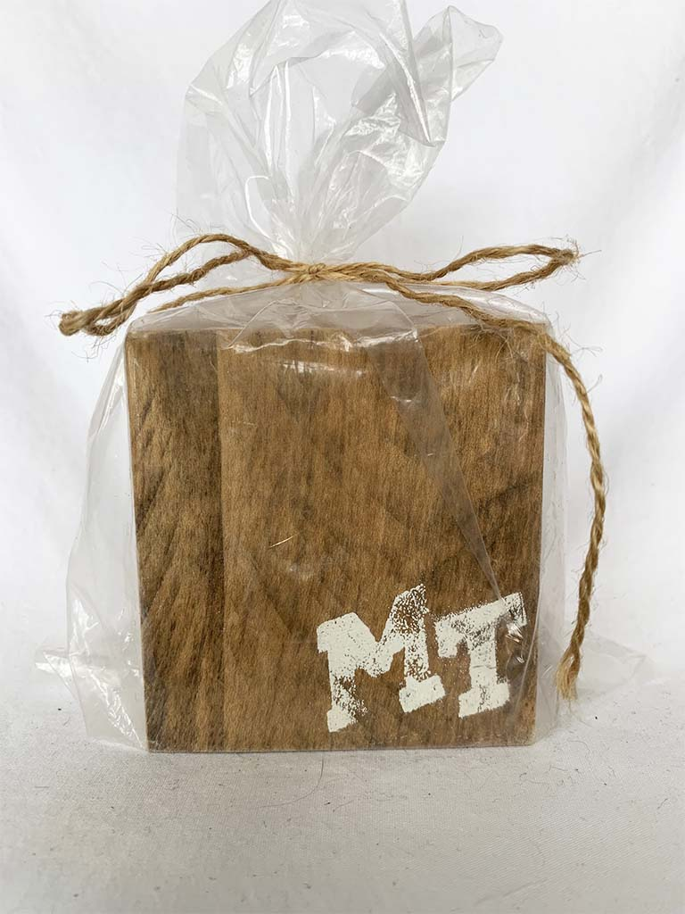 Natural MTSU Coasters- Set of 4