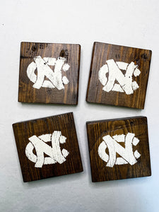 Dark UNC Coasters- Set of 4
