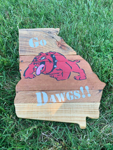 "Natural Rustic ""Go Dawgs"" Georgia"