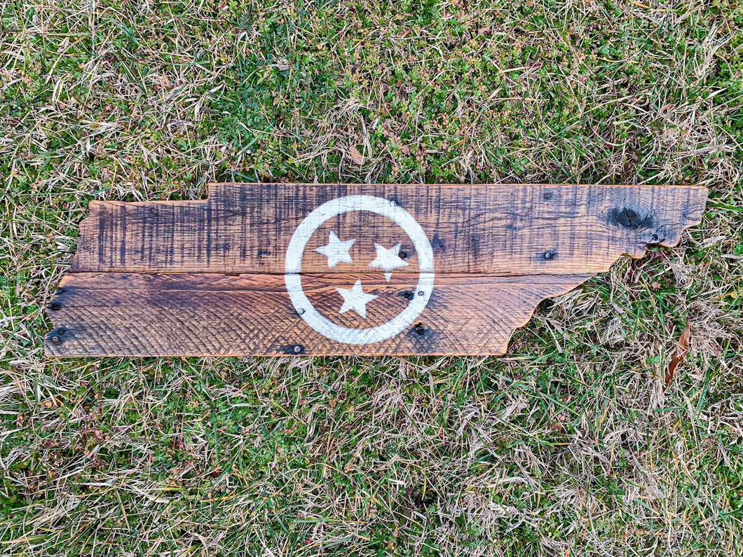 Rustic Dark Tri Star Tennessee