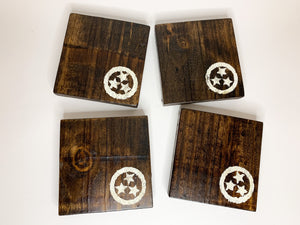Dark Tri Star Coasters- Set of 4