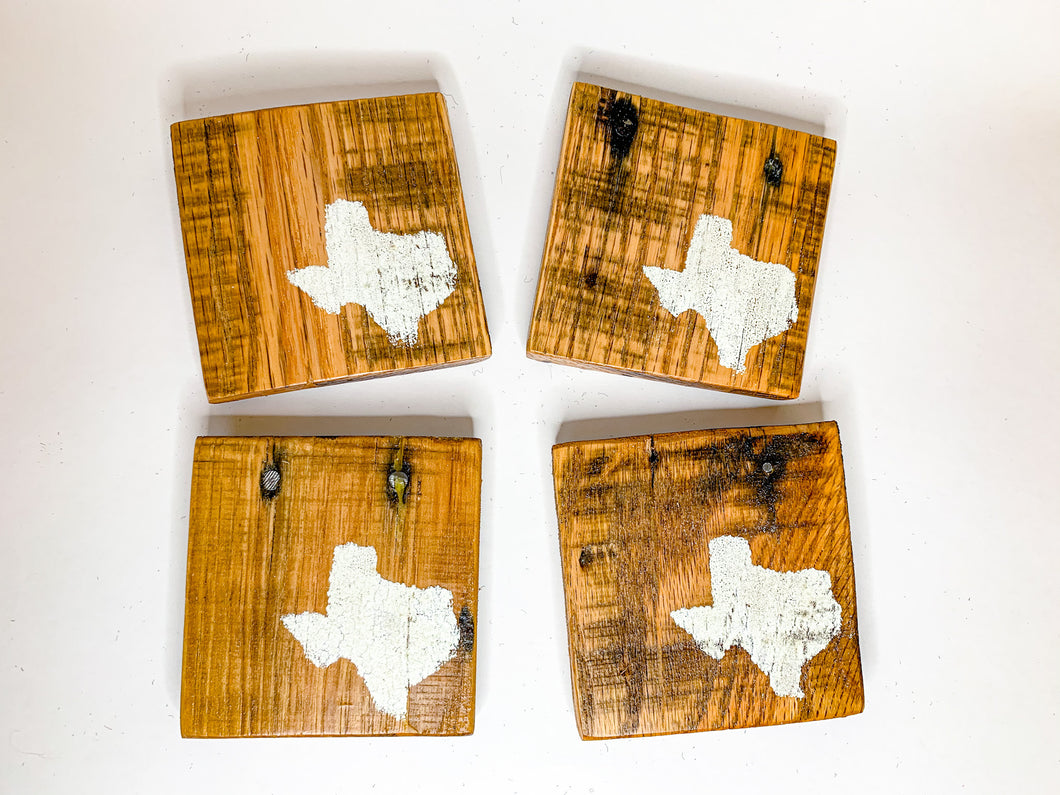 Natural State of Texas Coasters- Set of 4