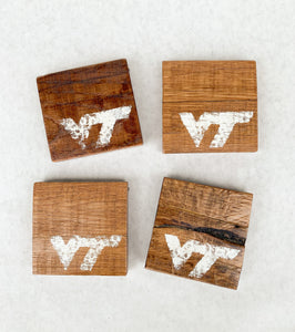 Set of 4 Natural Virginia Tech Coasters