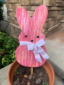 Outdoor Pink Easter Bunny