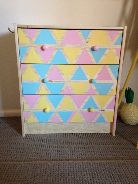 Ikea Hack: DIY Geometric Chest of Drawers.