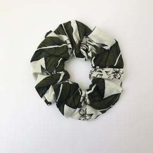 Floral Cotton Scrunchie with Tie