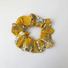 Load image into Gallery viewer, Yellow Floral Scrunchie