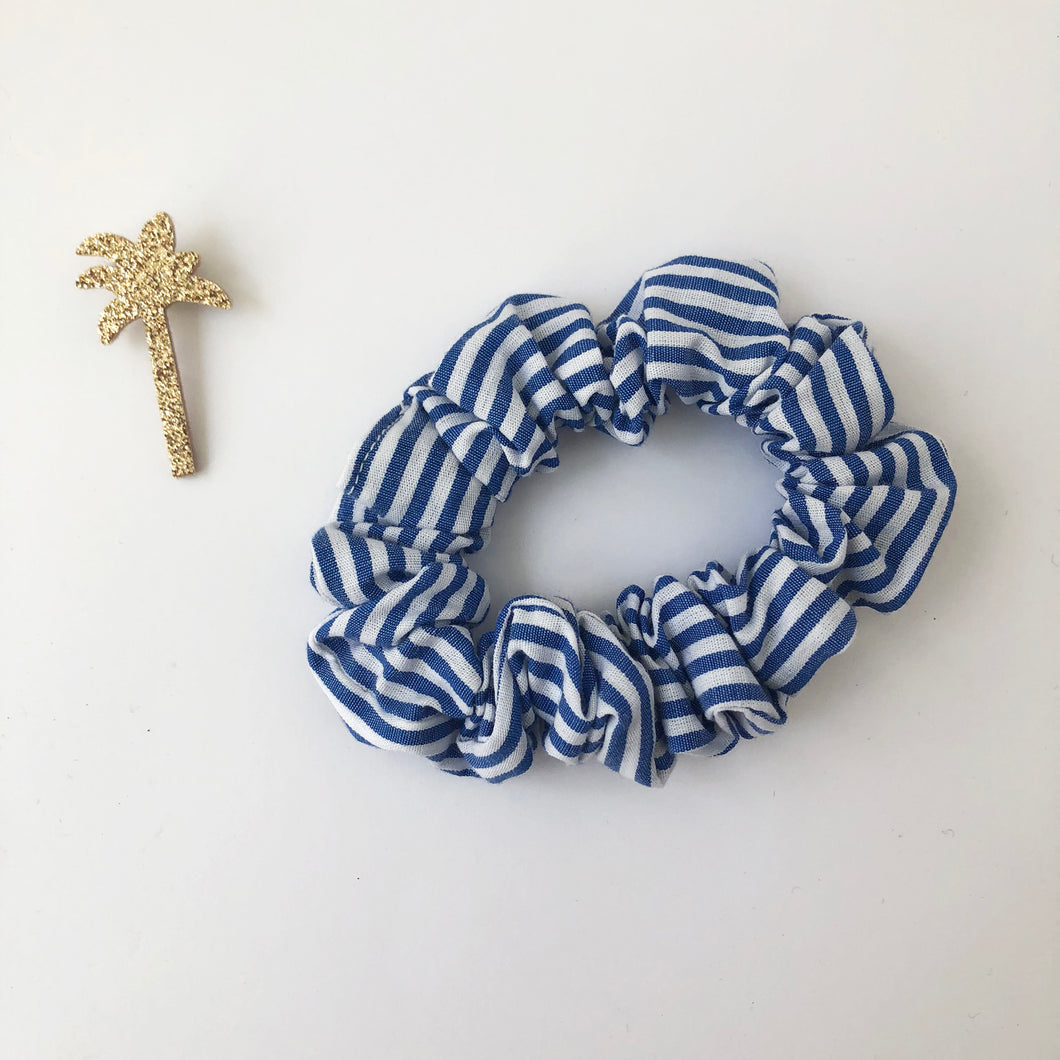 Mini Cotton Stripe Scrunchie