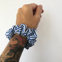 Load image into Gallery viewer, Mini Cotton Stripe Scrunchie