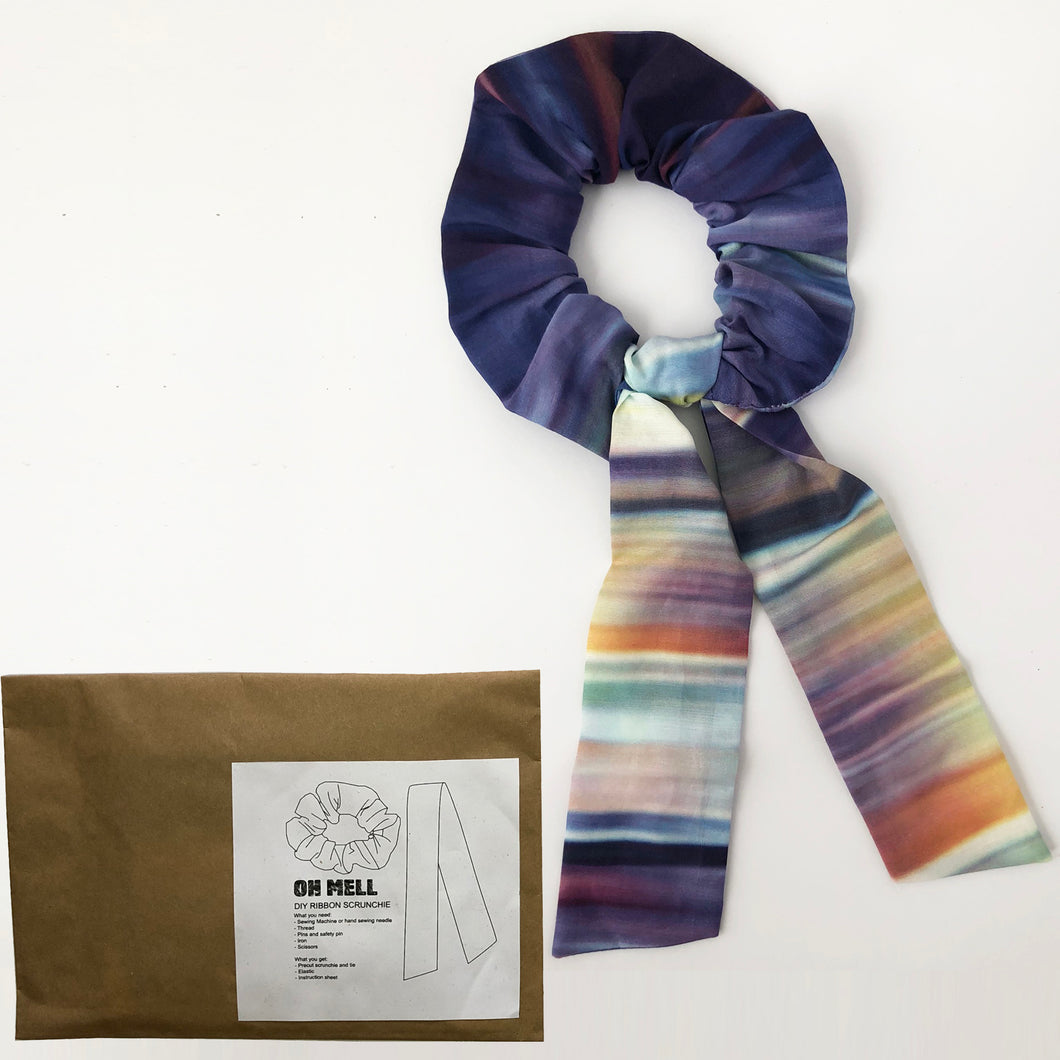 DIY Ombre Cotton Silk Scrunchie with Tie Kit
