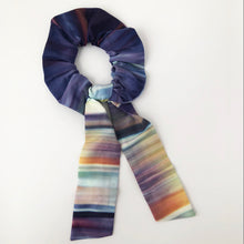 Load image into Gallery viewer, Multi Ombre Cotton Silk Scrunchie with Tie