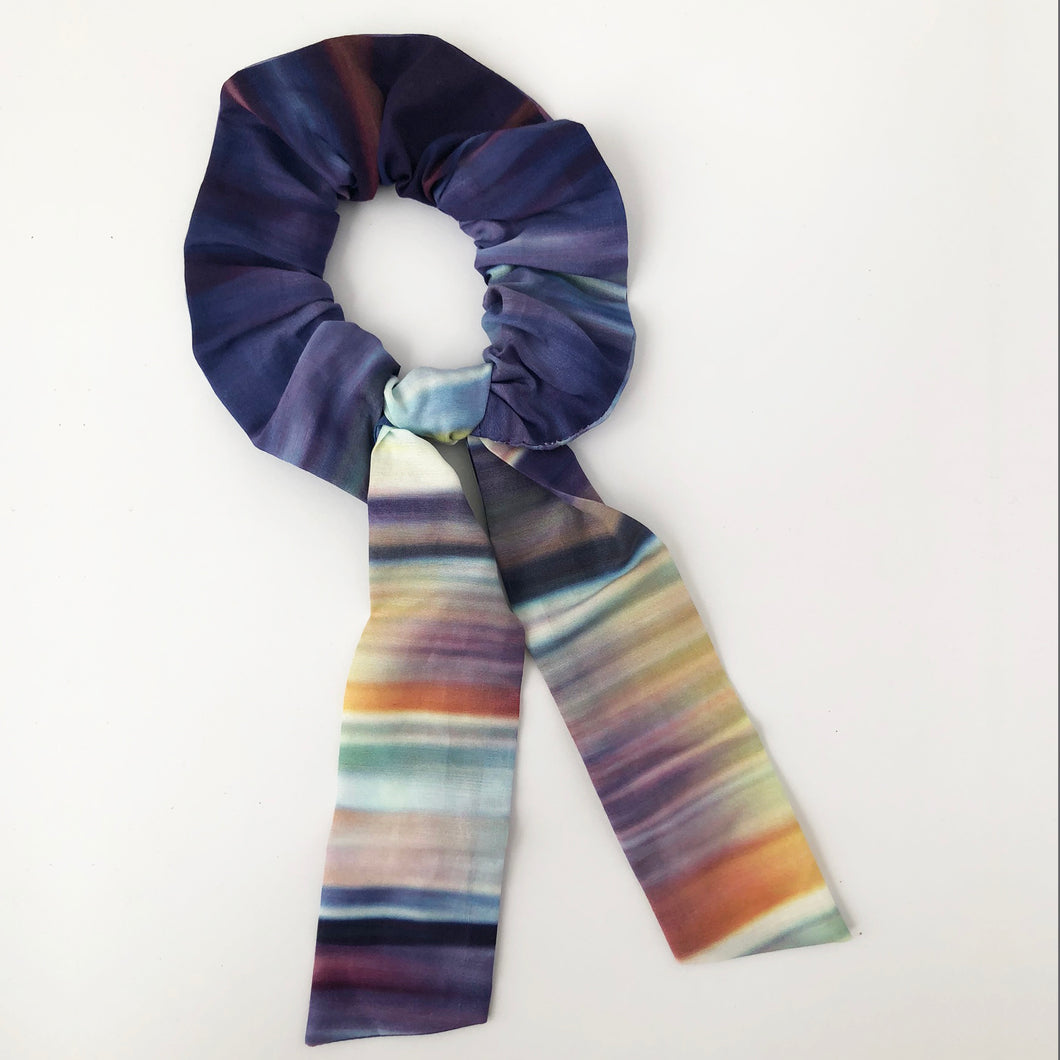 Multi Ombre Cotton Silk Scrunchie with Tie
