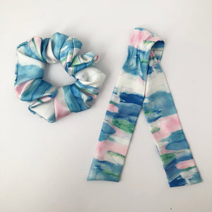 Silky Scrunchie with Tie