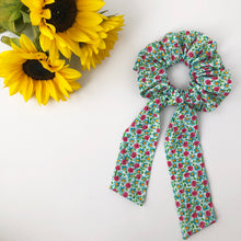 Load image into Gallery viewer, Floral Cotton Scrunchie with Tie