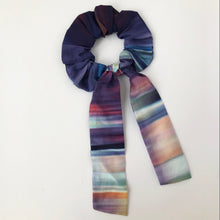 Load image into Gallery viewer, Multi Colour Ombre Cotton Silk Scrunchie with Tie
