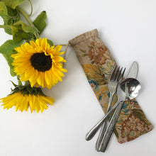 Load image into Gallery viewer, Floral Print Cutlery Bag