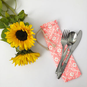 Tile Print Cutlery Bag