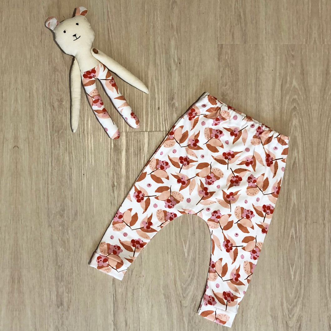 Me and Mini - Matching Teddy and Pant Set Retro Floral Print