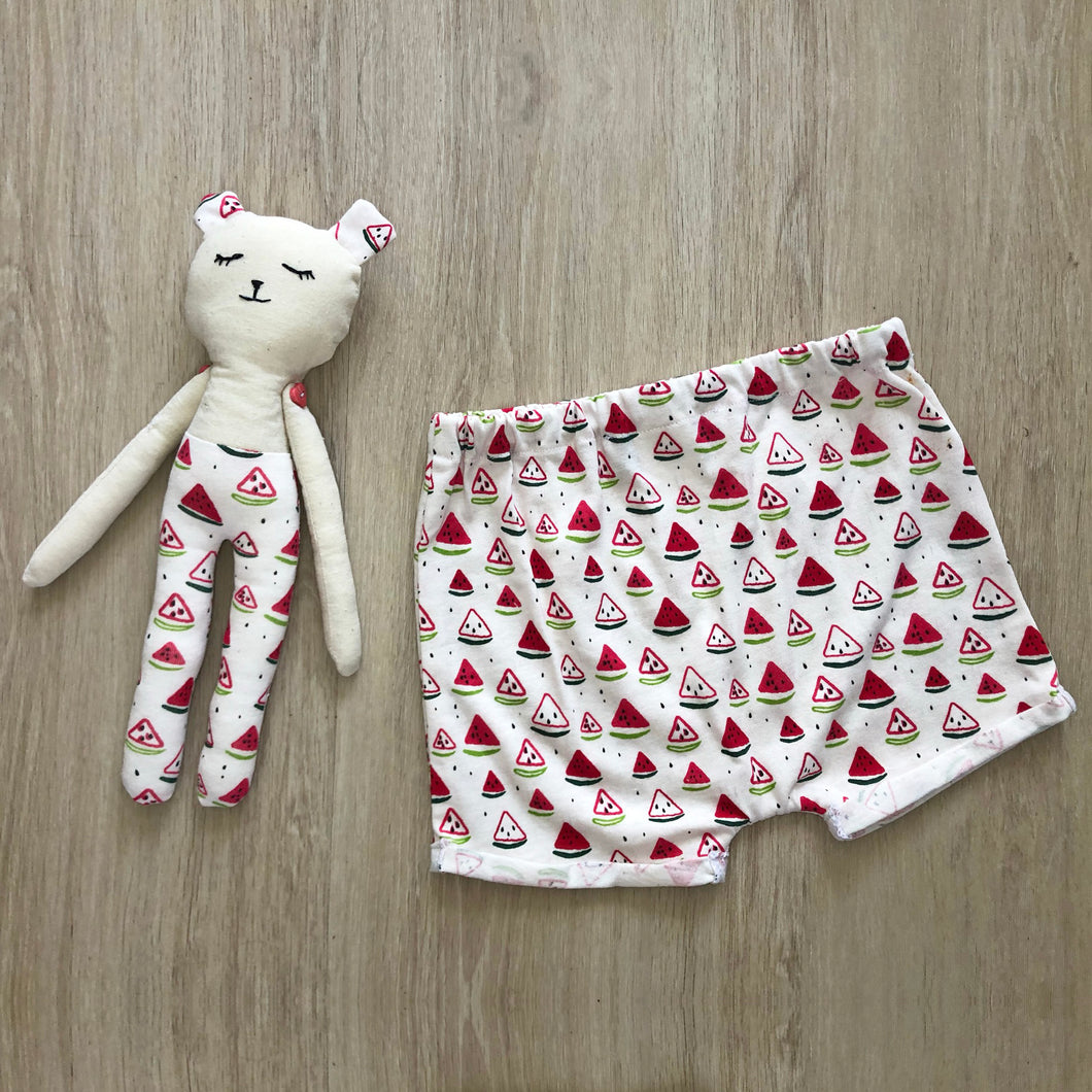 Me and Mini - Matching Teddy and Pant Set Watermelon Print