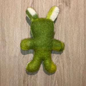Recycled Blanket Teddy - Green