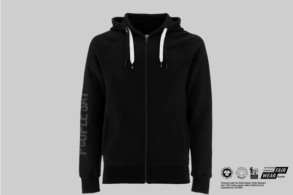 """People Say"" Organic Earth Positive Zip Hoodie"