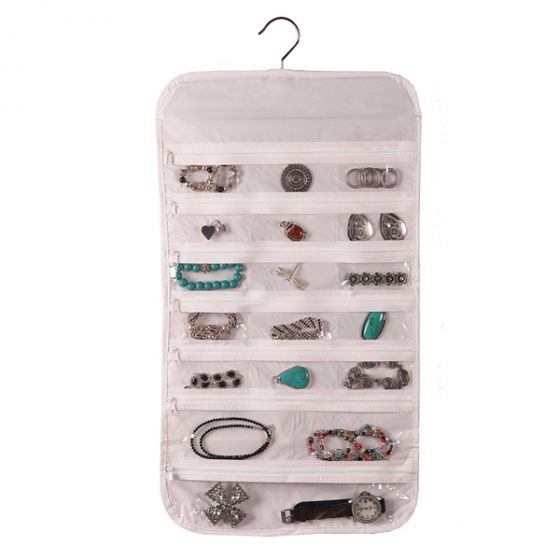 37 Pocket Clear Vinyl Jewelry Organizer by Richards Homewares