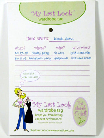Refill Pack of My Last Look Wardrobe Tags