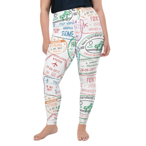 Passport Plus Size Leggings