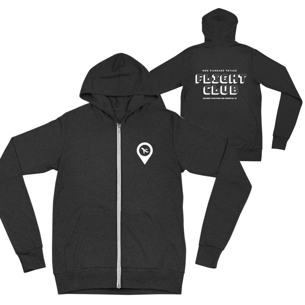 Travel Club Unisex zip hoodie