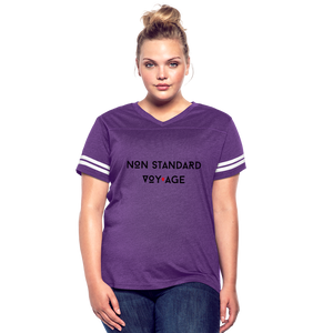 Women's Signature Logo Vintage T-Shirt - vintage purple/white