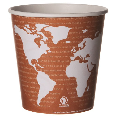 Contenedor Biodegradable de Papel para Alimentos o Helados, varios tamaños - World Art - Eco-Products
